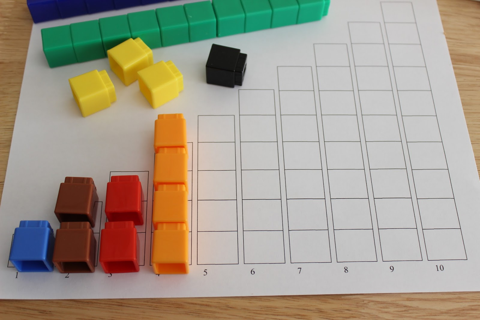 medium resolution of Unifix Cubes Activities plus Free Printables - A Bountiful Love