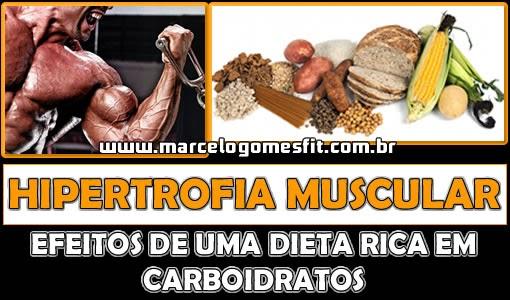 Hipertrofia Muscular - Efeitos de uma dieta rica em carboidratos