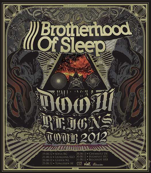 Brotherhood Of Sleep: Doom Reigns Tour 2012