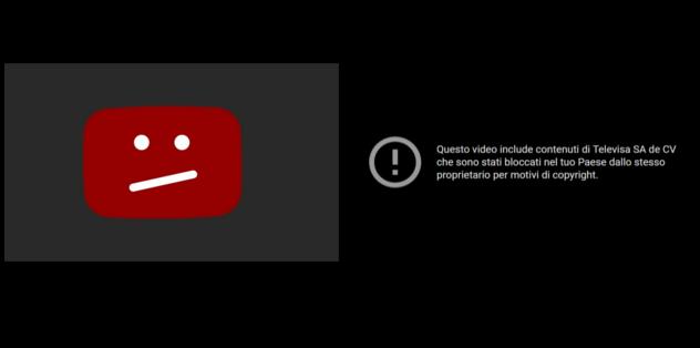 Youtube - video bloccati in Italia