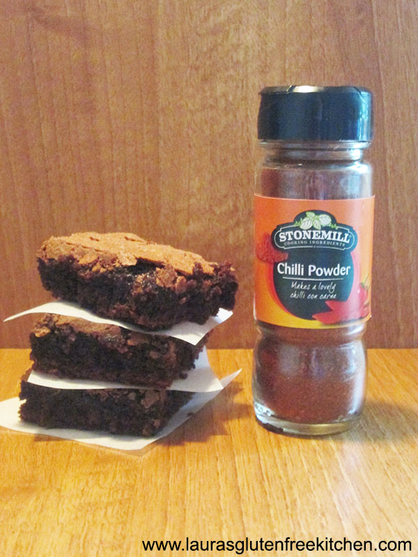 Gluten Free Chilli and Chocolate Brownies