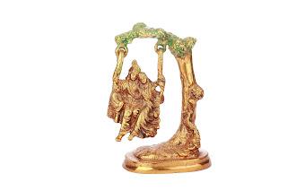 Krishna Radha in Brass- INR 1500