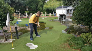 In action on the Ryder Legends course at The Belfry