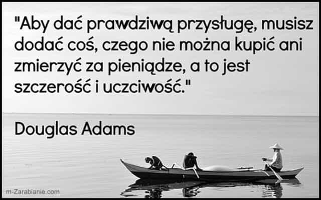 Douglas Adams, cytaty o pieniądzach.