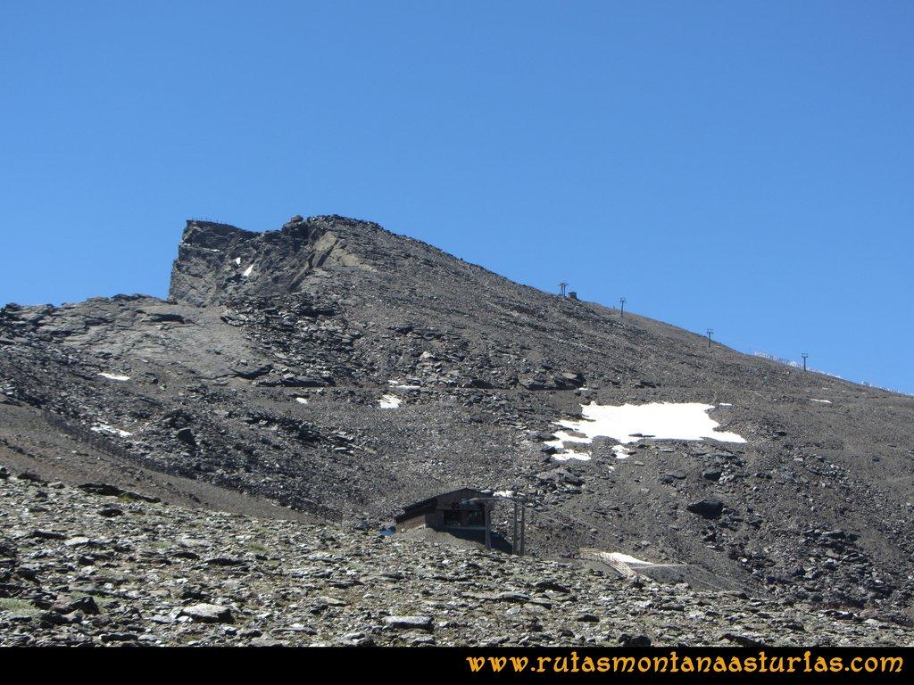 Ruta Hoya de la Mora - Veleta: Vista del tramo final del Veleta