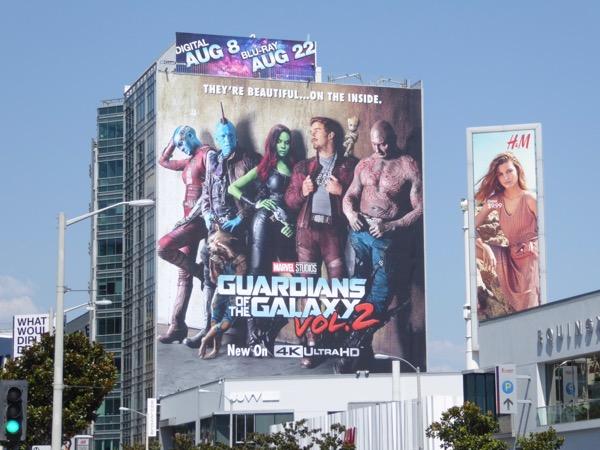 Guardians of the Galaxy 2 Blu-ray billboard