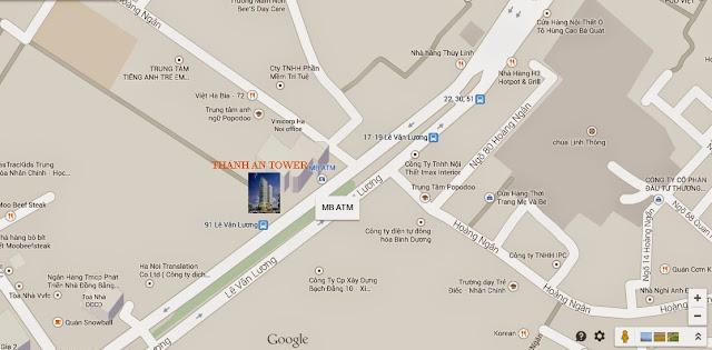 vị trí chung cư Manhattan Tower 21 Lê Văn Lương hà nội
