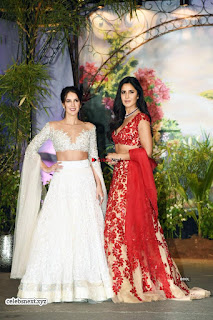 Katrina Kaif and her sister at Sonam Kapoor Wedding Stunning Beautiful Divas ~ Exclusive