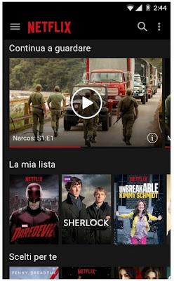 NETFLIX - APP ANDROID PER VEDERE FILM IN STREAMING TV TRAMITE ABBONAMENTO