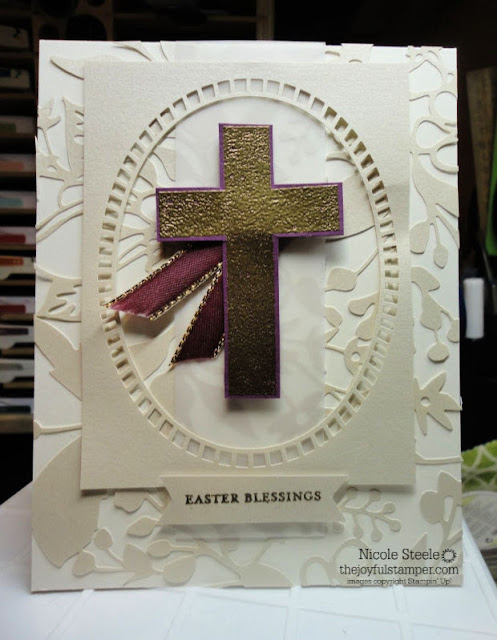 Easter card with Stampin' Up!'s Hold On To Hope, Itty Bitty Greetings, and Shimmer Detailed Laser-Cut Specialty Designer Series Paper