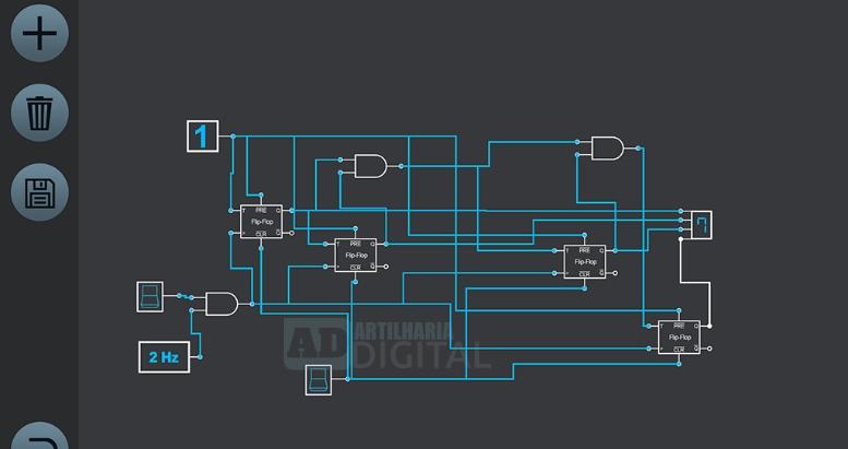 Logic Simulator Pro - Aplicativo gratuito para engenharia elétrica, eletrônica, robótica e afins!
