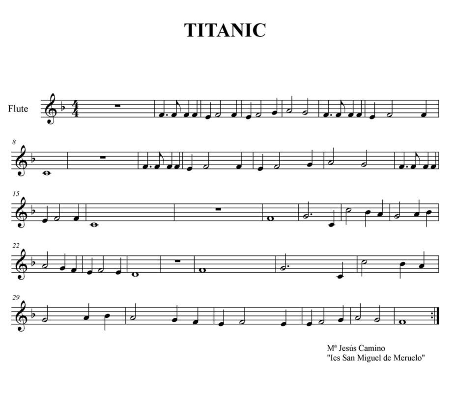Notas De Flauta Dulce Titanic
