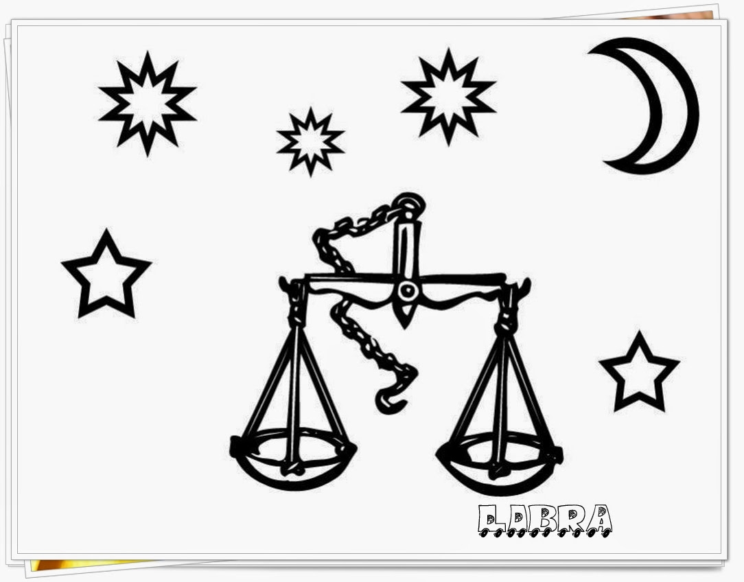 libra printable zodiac coloring pages