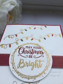 Making Christmas Bright Christmas card with gold embossing.