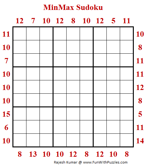 MinMax Sudoku Puzzle (Daily Sudoku League #196)