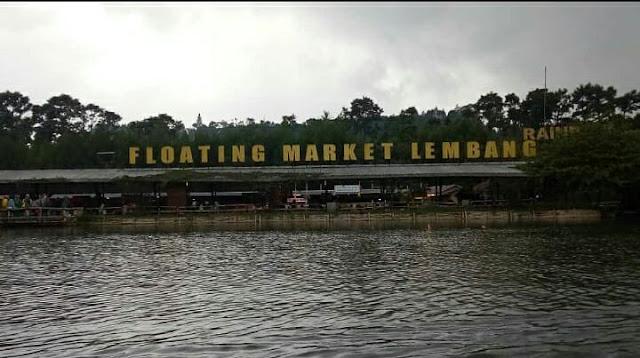 wisata di Pasar apung di Lembang, Jawa Barat