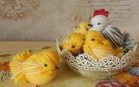 Chickens made through crochet pattern shop thread