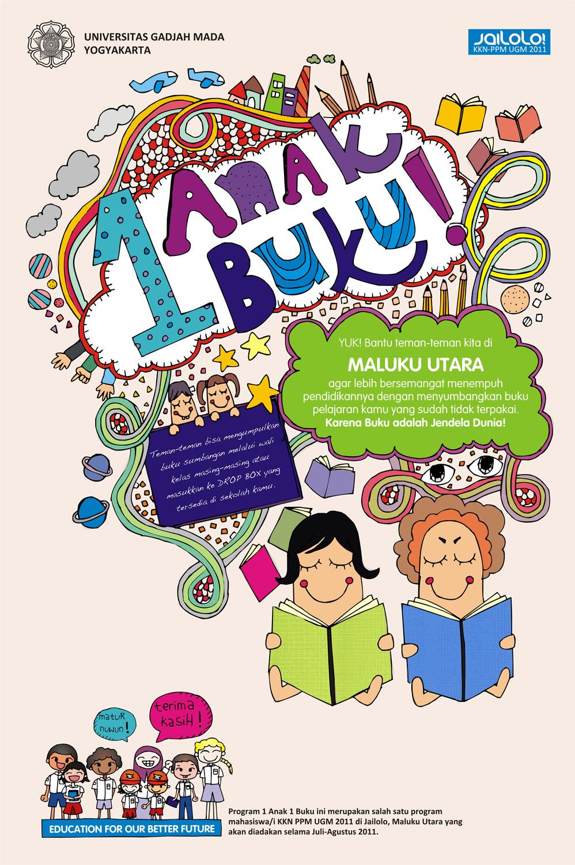 Poster Pendidikan Buku Adalah Jendela Dunia Profesional Teacher