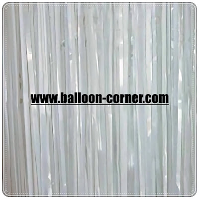 White Foil Curtain / Tirai Foil Putih