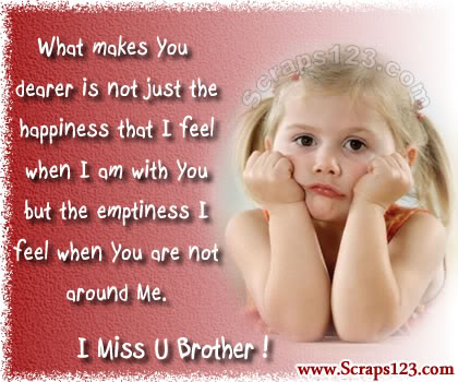 Inspirational Quotes For Missing Brother With Beautiful Sad ...