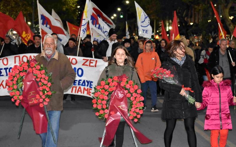 Αλεξανδρούπολη: Μαζική συγκέντρωση και πορεία για το Πολυτεχνείο