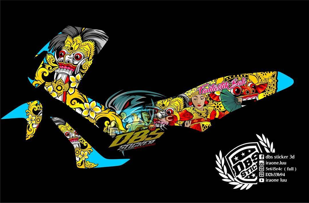 Cutting Sticker Yamaha NMAX Barong Bali