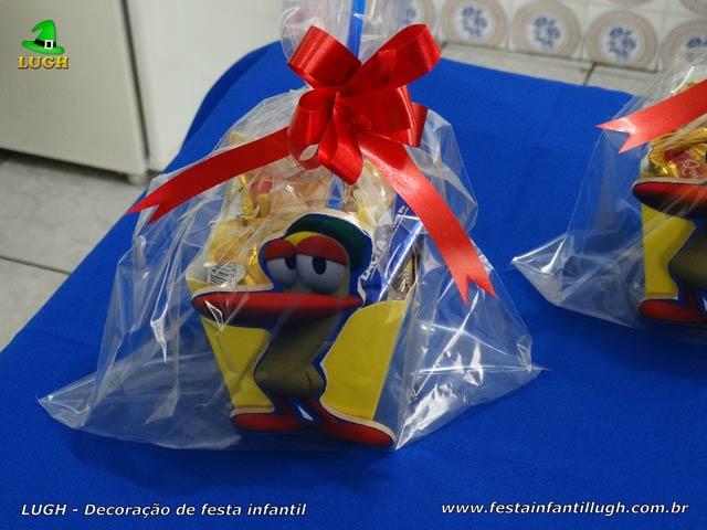 Toalhas e enfeites de centro mesas para festa temática do Pocoyo