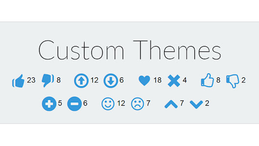 Custom Like Button Themes and Icons