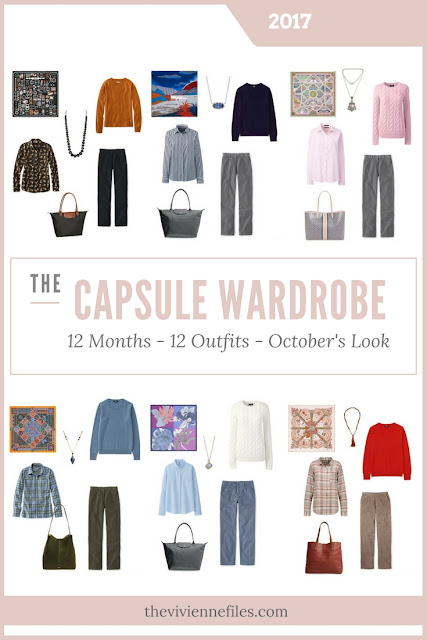 Build a Capsule Wardrobe in 12 Months, 12 Outfits - October 2017
