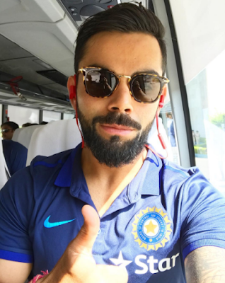 Virat Kohli in the Car With Sunglasses