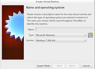 Creating a new Virtual machine