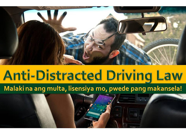 Many of us have already encountered drivers who are texting while on the road, talking on their cell phones, watching basketball, news or checking social media accounts while on their wheels.  Unmindful of the possible accidents we can see this kind of drivers, both young and old in our roads.   But not this time, it is after Congress passed an Anti-Distracted Driving  Act in the Philippines  It passed through Senate last May 2016 and lapsed into law last July 21 after it was not signed by President Benigno Aquino III during the 30-day period.  The Anti Distracted Driving Act (ADDA) aims to avoid an accident caused by driver distraction.