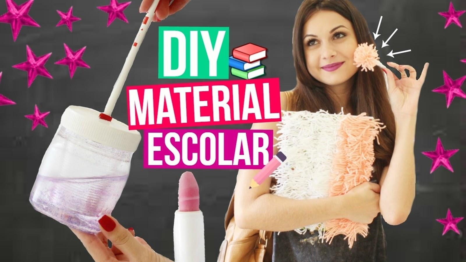 4 DIY MATERIAL ESCOLAR