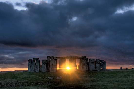 Winter Sunset at Stonehenge