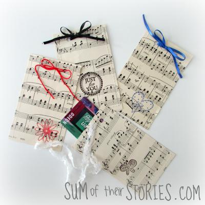 sheet music gift card envelope