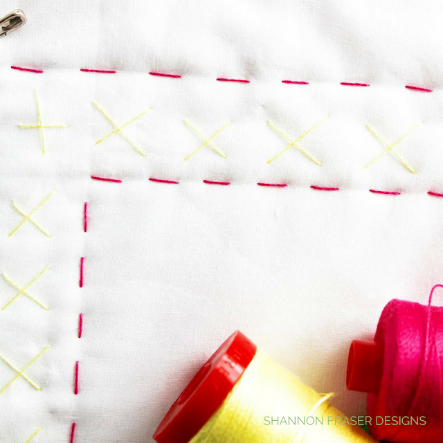Big Stitch Hand Quilting | Shannon Fraser Designs | Aurifil Thread | Modern Quilting