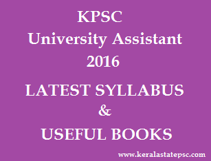 University Assistant Syllabus