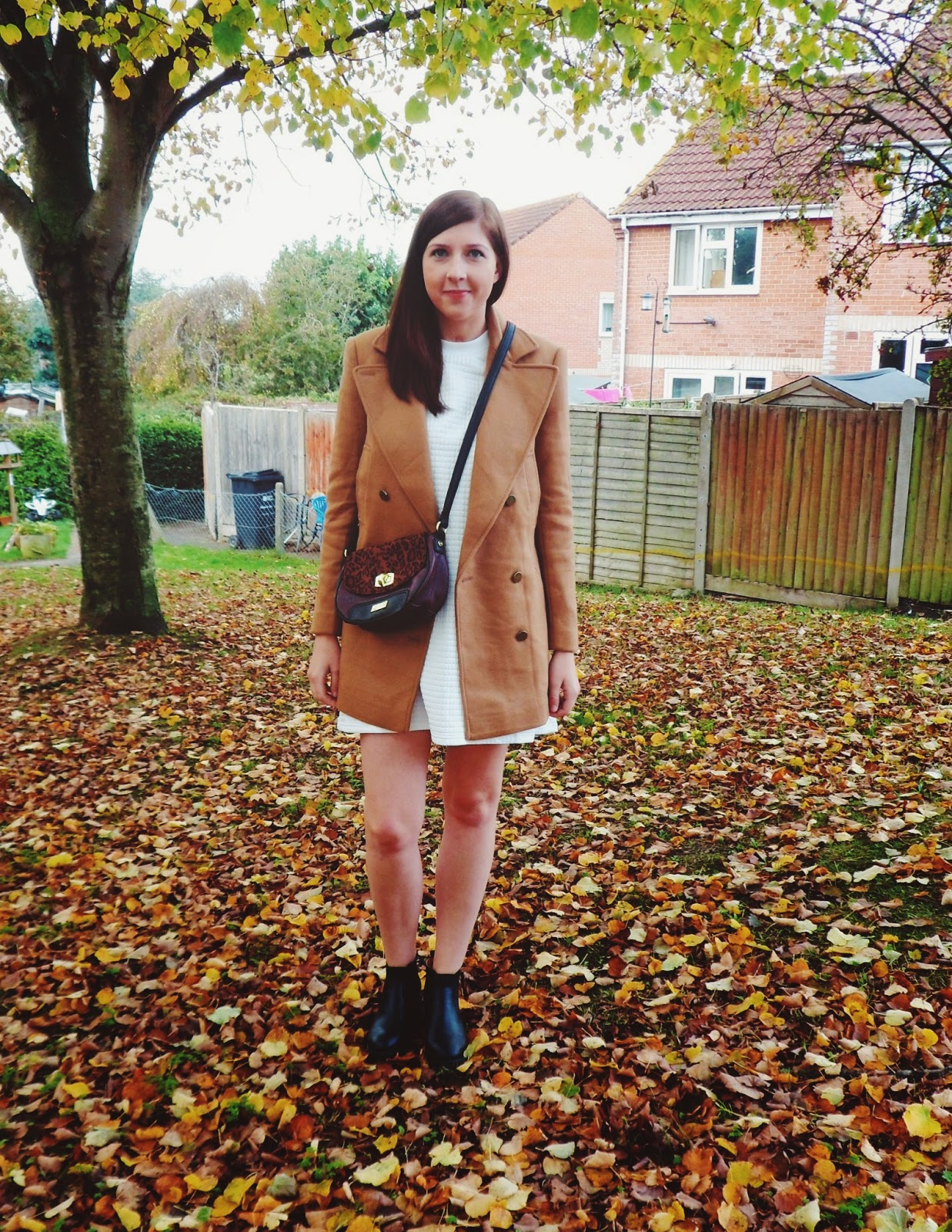 fbloggers, fashion, fashionbloggers, ootd, outfitoftheday, wiw, whatimwearing, whatibought, lotd, lookoftheday, asos, marlalondon, primark, camelcoat, whitedress, trapezedress, asseenonme, outfitpost, autumn, autumnwinter2014