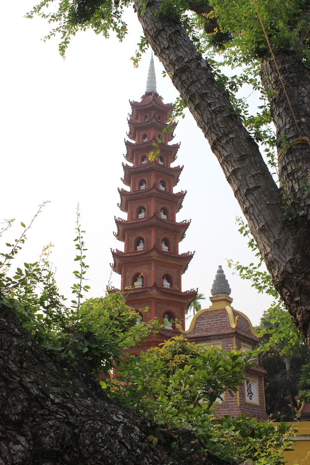 Tall pagoda in Hanoi