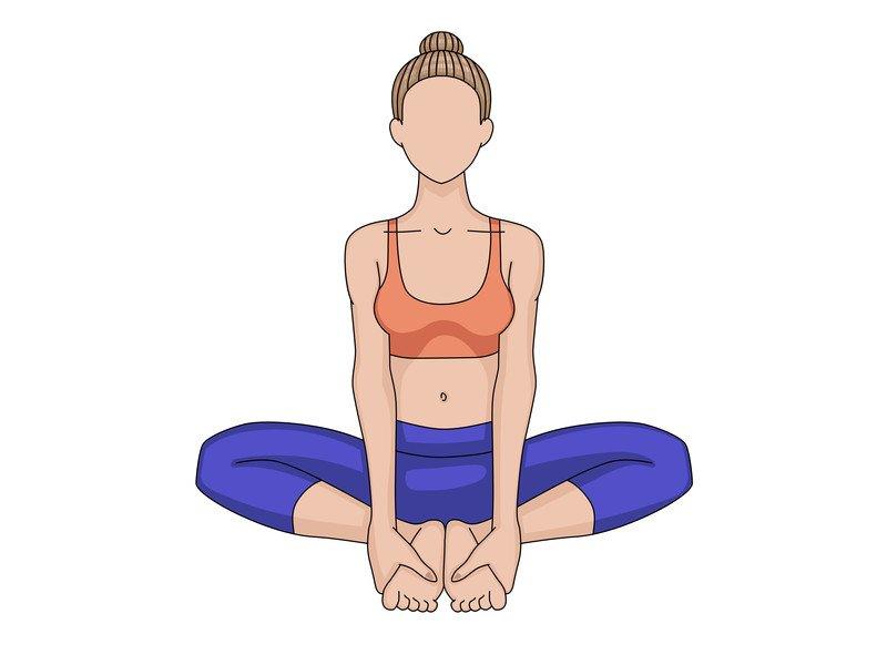 Rückenschmerzen: Diese drei Yoga-Übungen helfen - Schmetterling