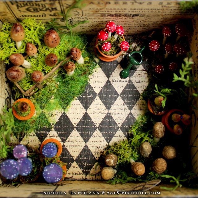 Graphic 45 Floral Shoppe Mushroom House - Nichola Battilana blog.pixiehill.com
