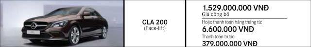 Giá xe Mercedes CLA 200 2018 tại Mercedes Trường Chinh