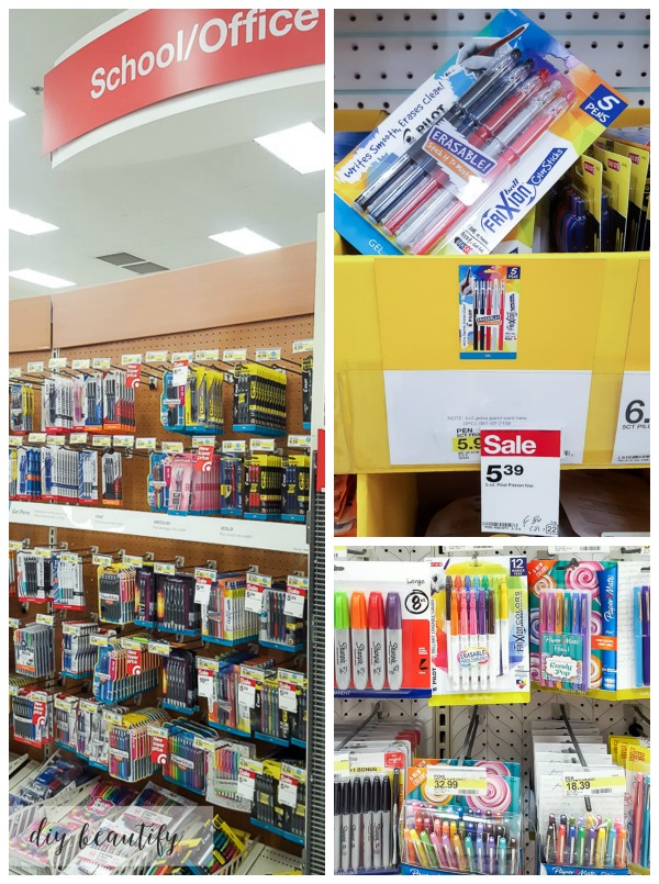 Pilot FriXion markers and pens at Target