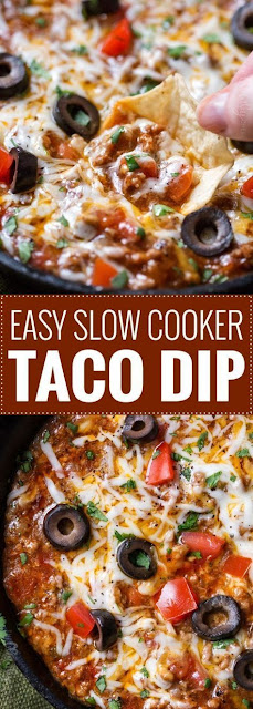 EASY SLOW COOKER TACO DIP