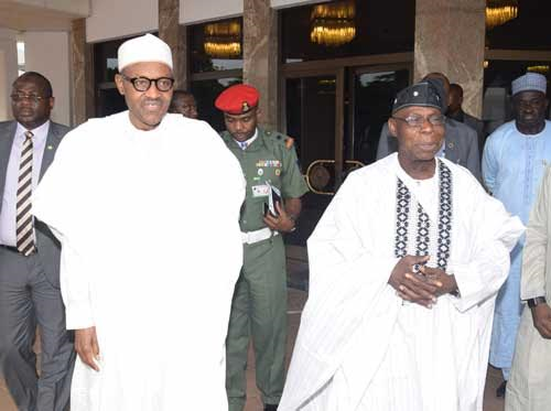 Buhari, Obasanjo, Jonathan meet with in Abuja - Chronicle.ng