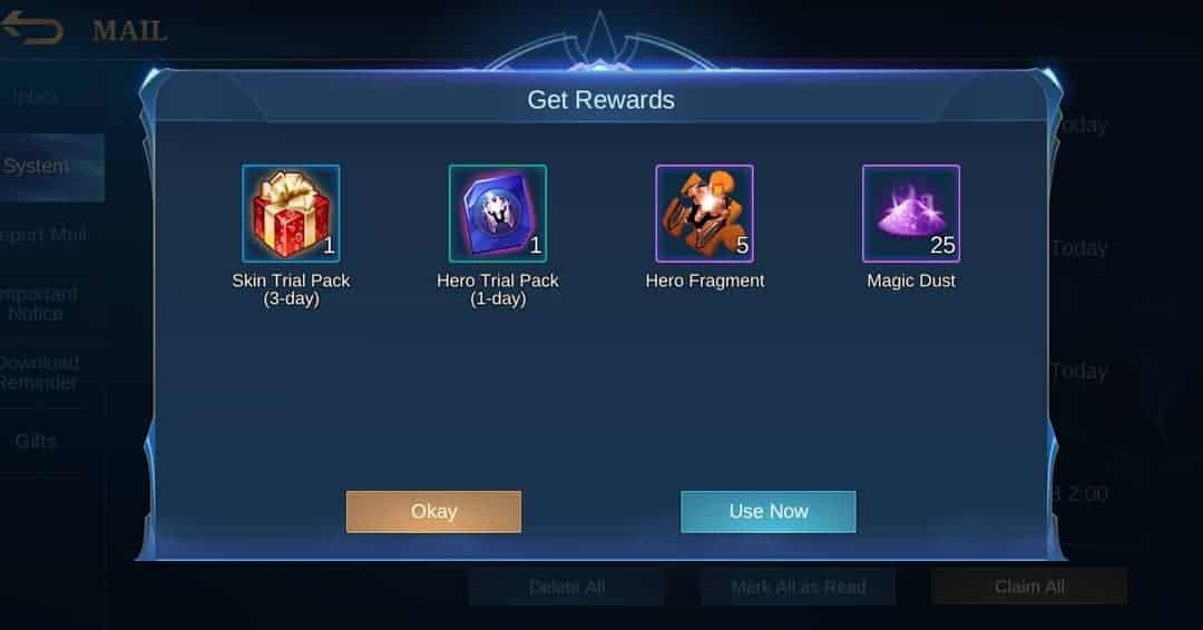 mobile legends redeem code