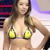 Modelo e atriz Deia Liss participou de programa de tv com biquíni feito de fita adesiva