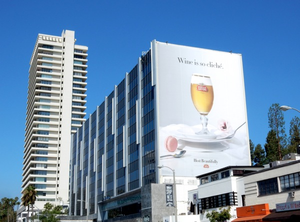 Wine is so cliché Stella Artois Beer giant billboard