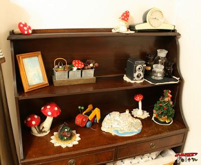 棚のクリスマス雑貨