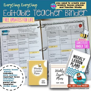weekly planner for teachers, teacher binder, teacher resources